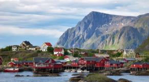 photo des iles Lofoten en Norvège