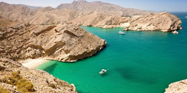 Oman mer bleu azur