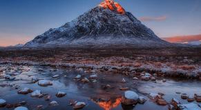 montagne rouge