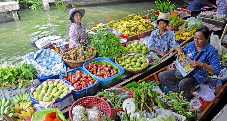 marché flottant bangkok thailande culture